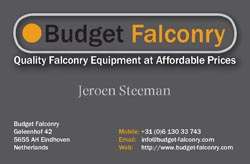 Budget Falconry Business Card